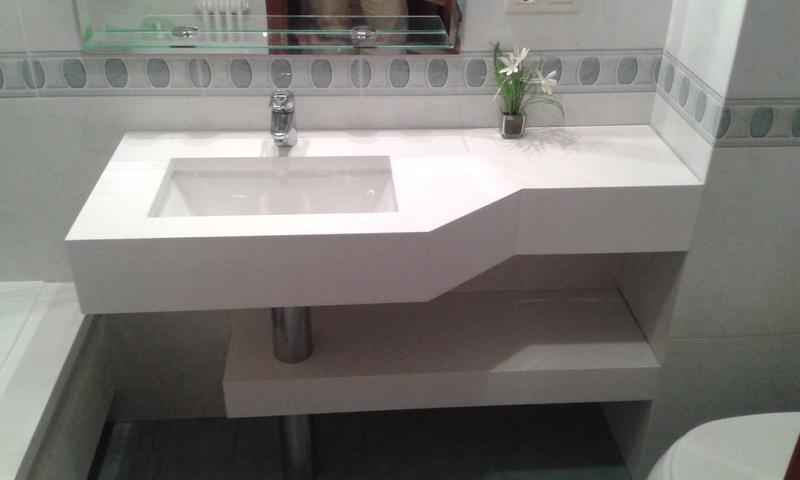 Muebles de ba o granito m rmol silestone for Colores de granito para encimeras